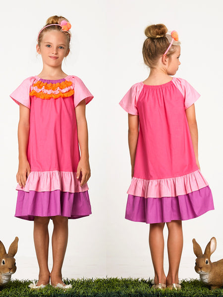 girls dress pattern, childrens sewing pattern, downloadable sewing pattern
