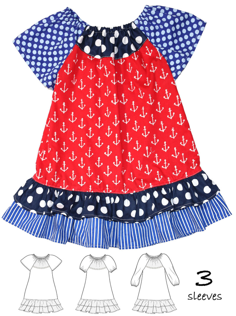 peasant dress pattern peggy