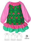 girls dress pattern, peasant dress pattern
