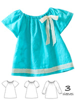girls peasant top pattern