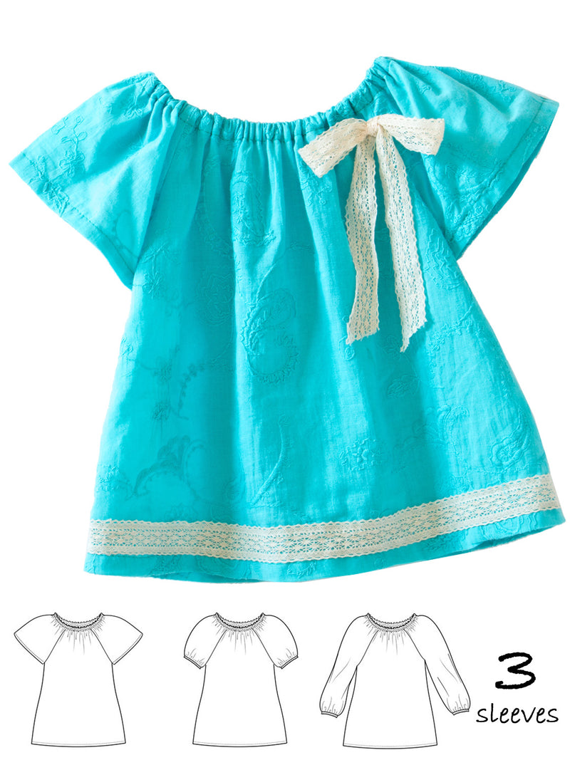peasant top pattern, girls sewing pattern