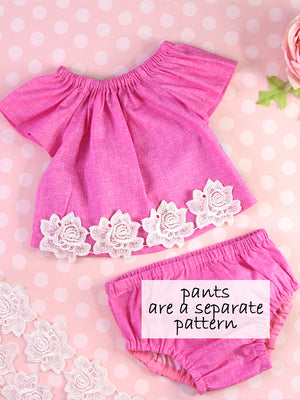 baby peasant top pattern