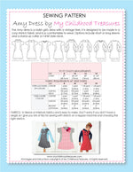 AMY - Girls Dress Patterns - Stretch