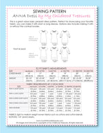 ANNA - Baby Peasant Dress Patterns - 3 Sleeves