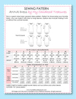 ANNA - Girls Peasant Dress Patterns - 3 Sleeves