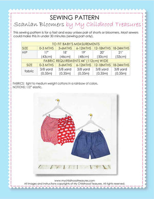 baby bloomers pattern by MCT