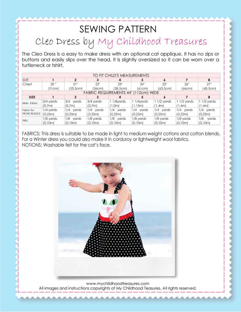cleo dress sewing pattern by MCT