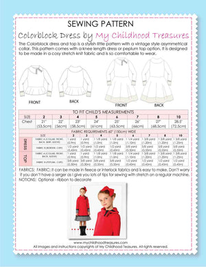 Colorblock sewing pattern by MCT
