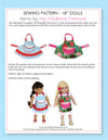 18 inch doll clothes patterns  - APRON (D1302)