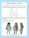 18 inch doll clothes patterns - BLUEBELL DRESS (D1304)