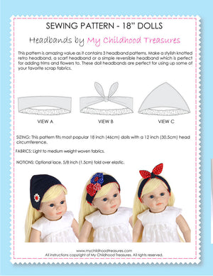 retro doll headbands
