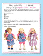 18 inch doll clothes patterns - POPPY (D1315)