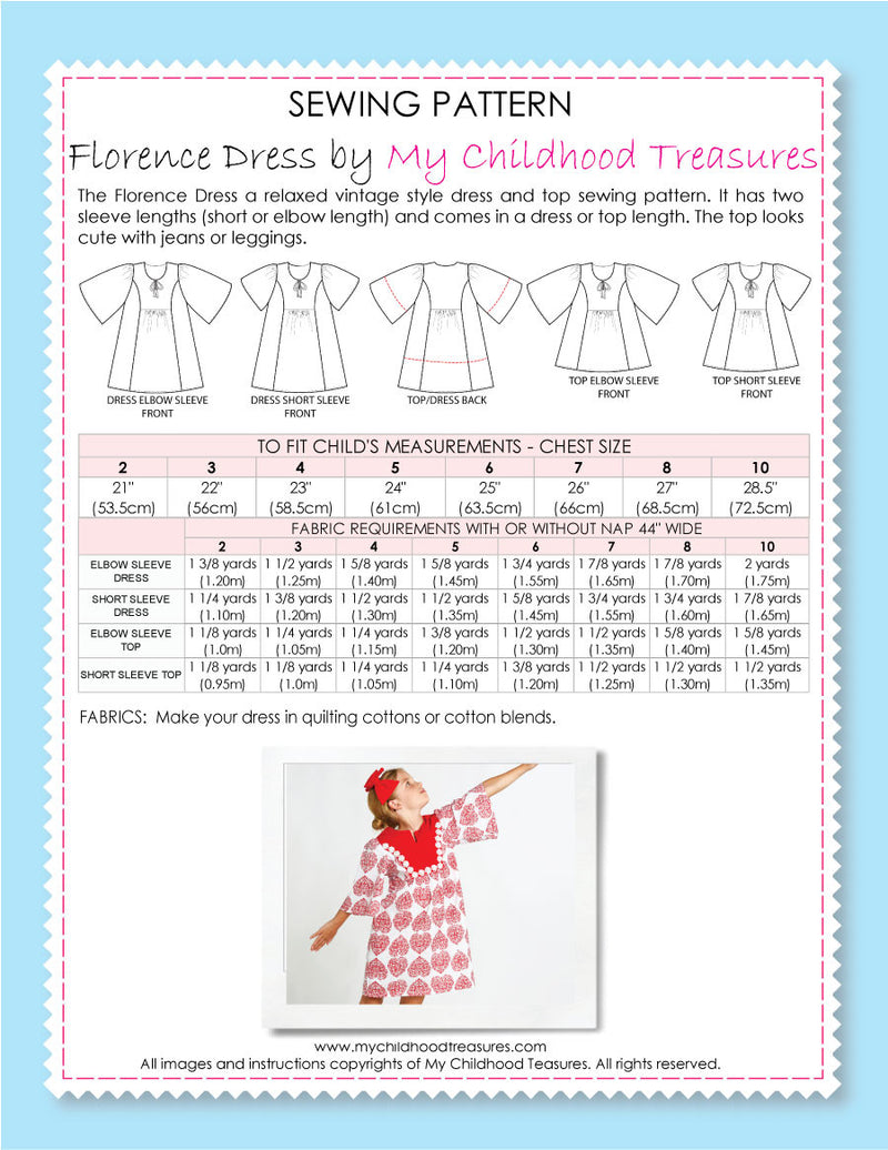 girls dress sewing pattern