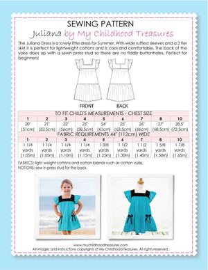Juliana girls dress pattern