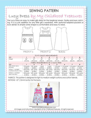 Lucy sewing pattern by MCT