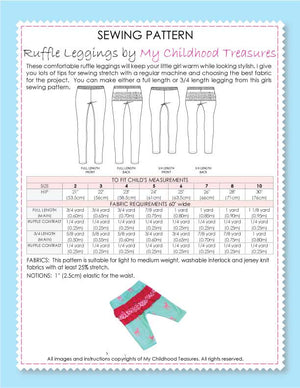 Leggings Sewing Pattern - RUFFLED