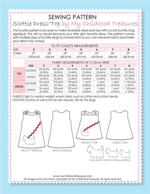 SCOTTIE - Reversible Dress Pattern, Top Sewing Pattern