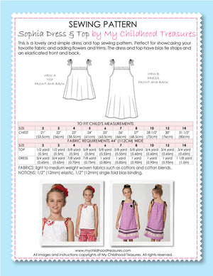 Sophia sewing pattern by MCT