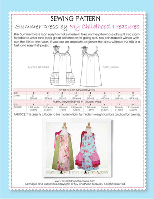 summer pillowcase dress pattern by MCT