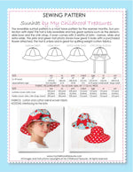 hat sewing pattern, kids hat pattern, ladies hat pattern