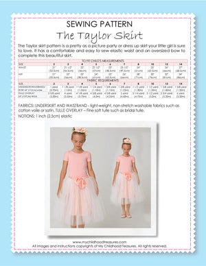 Free Sewing Pattern - Taylor Tutu Skirt