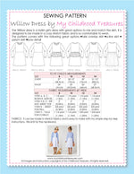 WILLOW - Girls Dress Patterns - Stretch