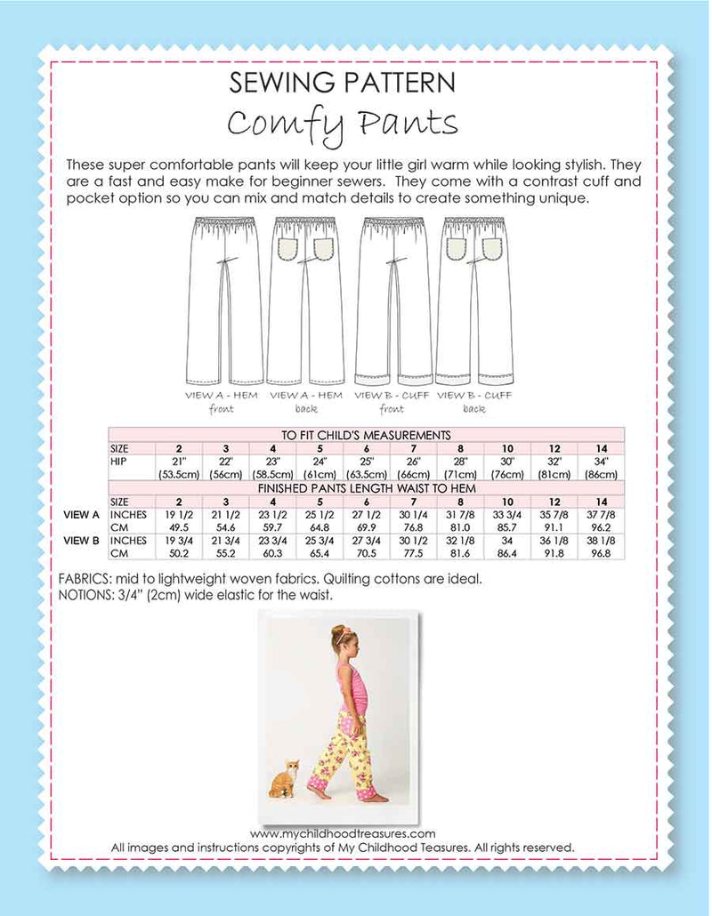 COMFY - Kids Pants Sewing Pattern