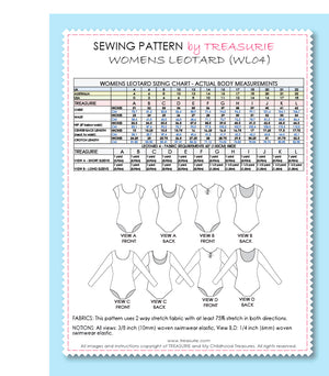 Bestseller - Leotard Patterns - LEOTARD #4 - WOMENS (WL04-L)