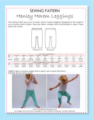 Henley harem leggings pattern by MCT
