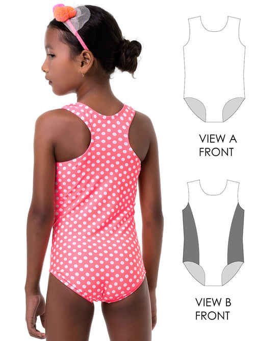 swimsuit patterns, racer back leotard pattern