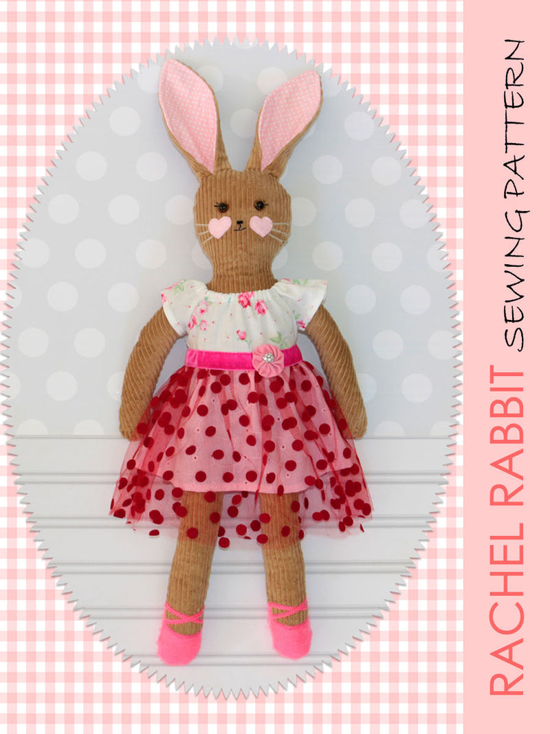 rabbit softie sewing pattern, Rachel Rabbit pattern