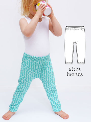 SAMMY - Slim Harem Leggings Sewing Pattern with Cuff