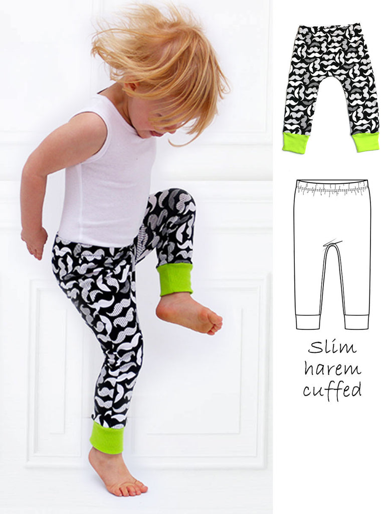 Sammy leggings sewing pattern treasurie my childhood treasures sammy slim harem leggings sewing pattern with cuff jeuxipadfo Image collections
