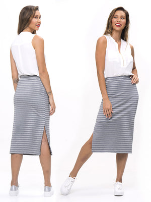 Stretch Straight Skirt - WOMENS  (WS04-L)