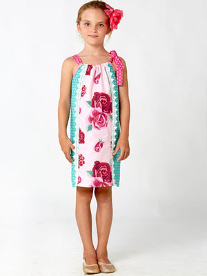 girls sewing pattern, easy pillowcase dress sewing pattern, childrens sewing pattern