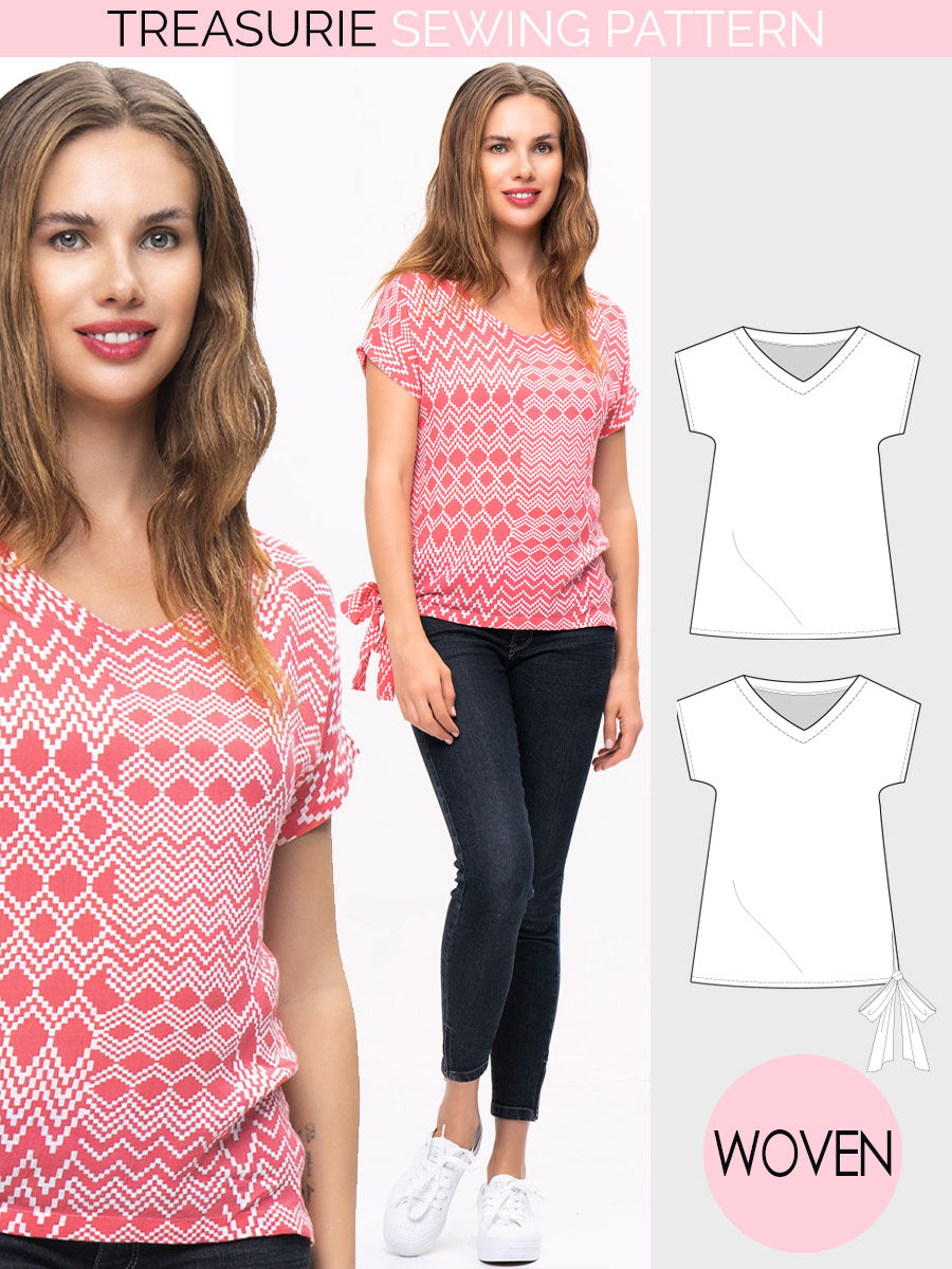 womens top pattern
