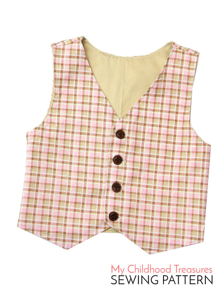 boys vest sewing pattern