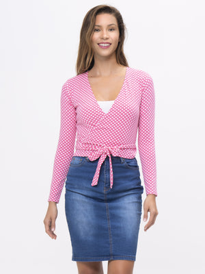 WRAP TOP - Womens - Stretch Pattern (W45-L)
