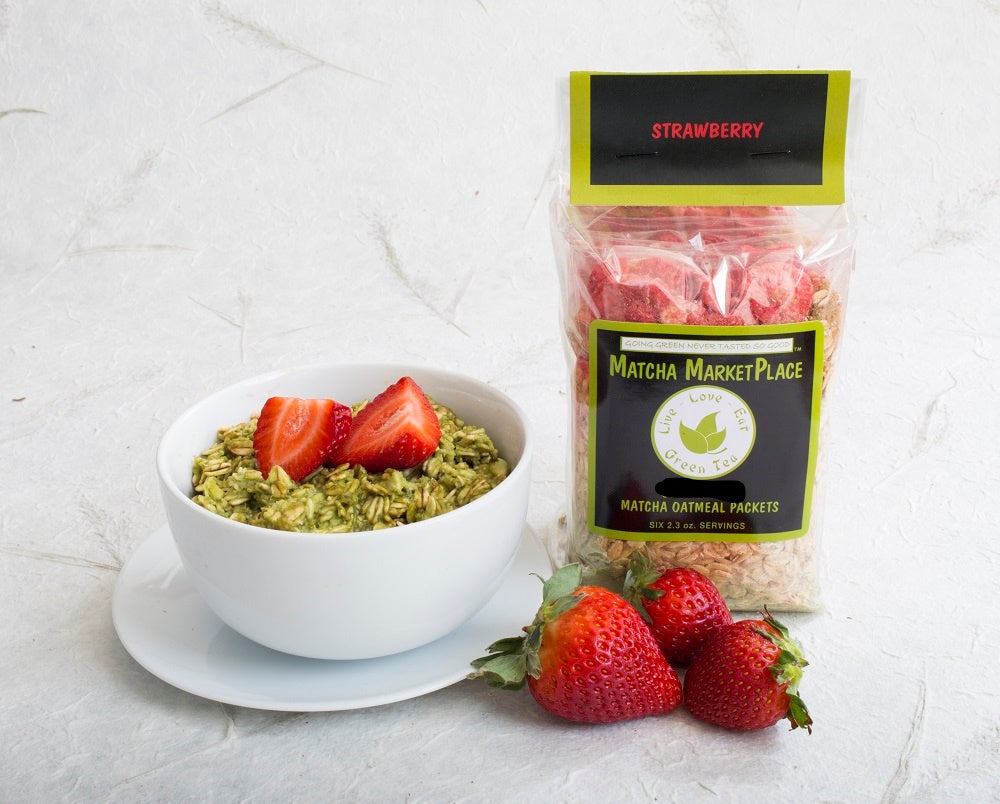 Strawberry Matcha Oatmeal