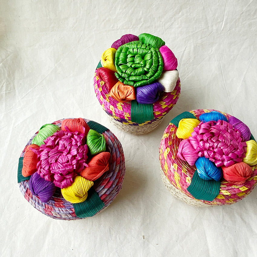 Mexico Flower Basket  M