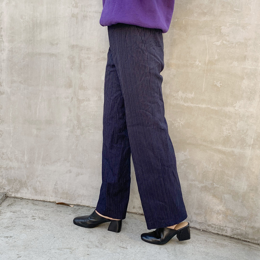 Dead stock Wool Slacks pants(Stripe)