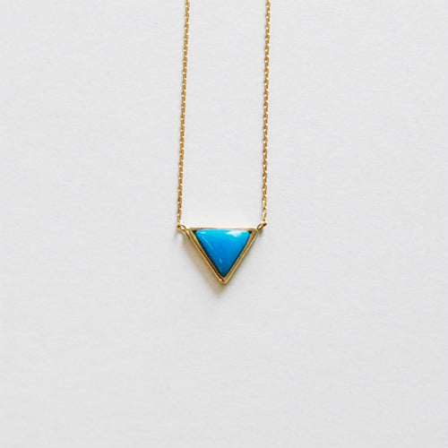 Triangle Necklace Turquoise