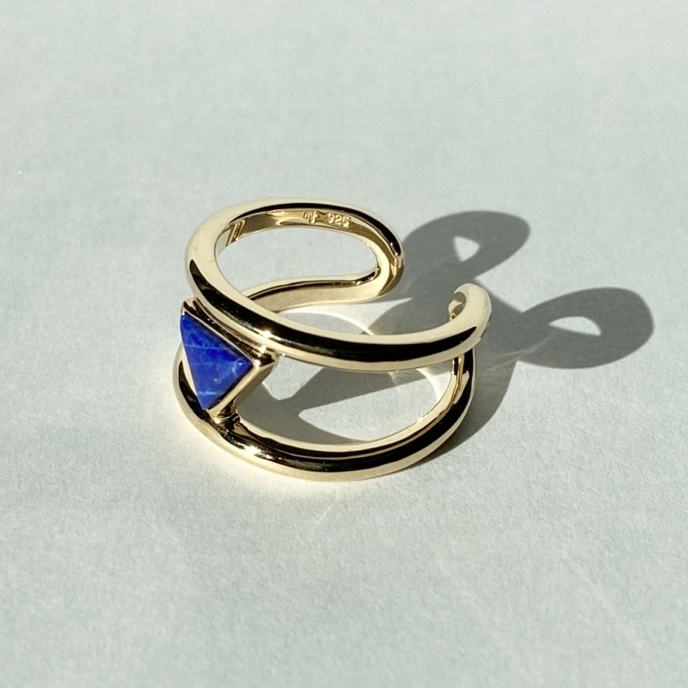 Triangle Lapislazuli Ring
