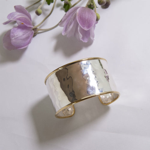 【受注】Wide Trim Silver Bangle
