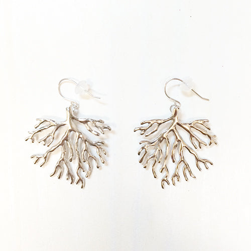 Coral Earring(silver)