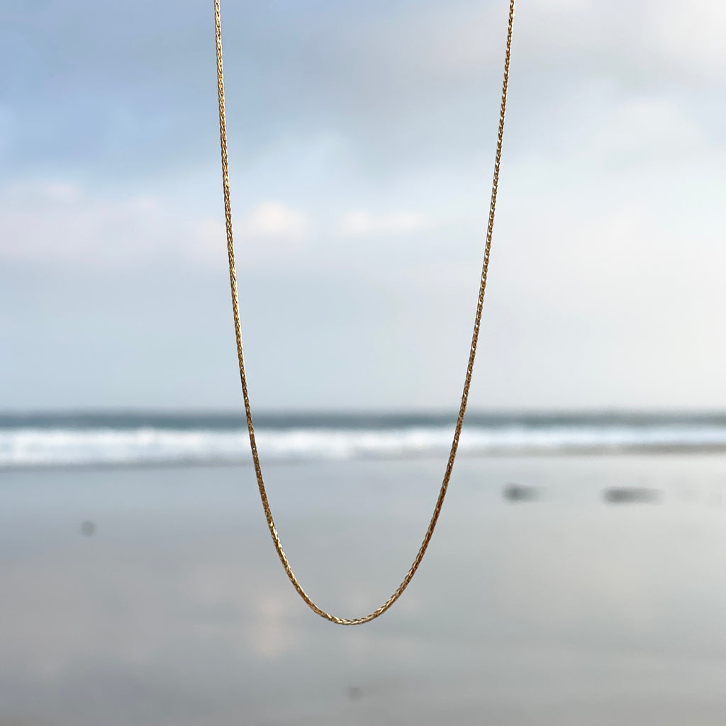 【予約送料無料】K18 Braids Chain Necklace