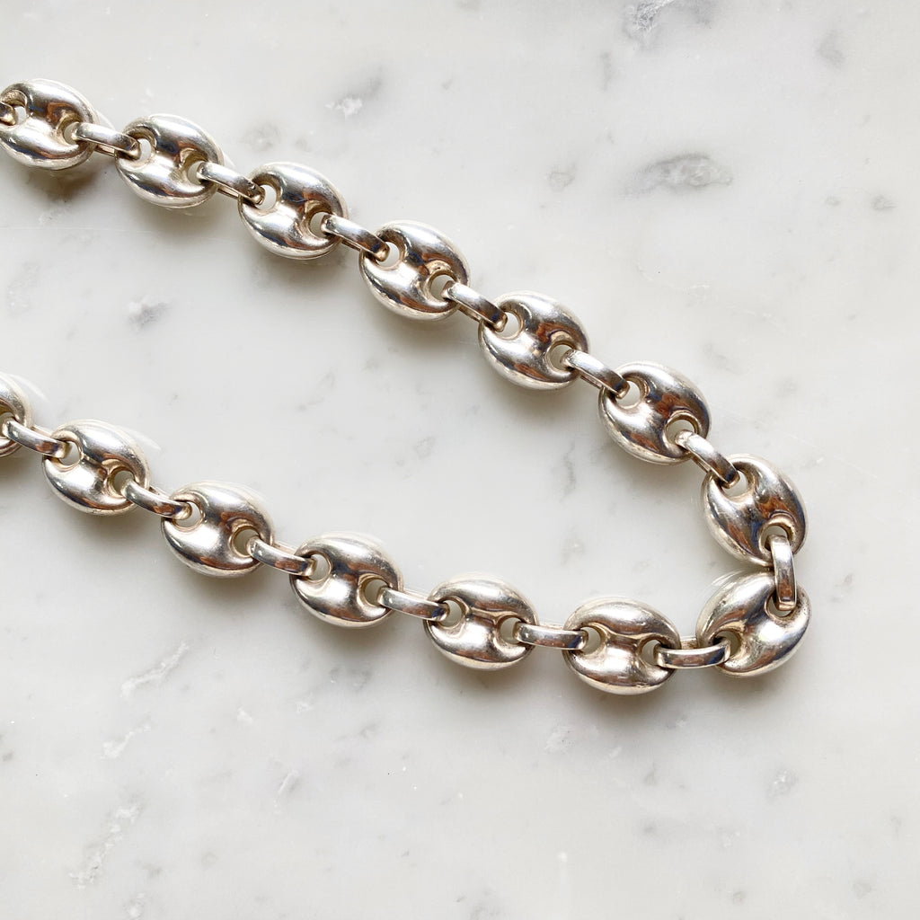 Vintage Silver Chain Necklace 2
