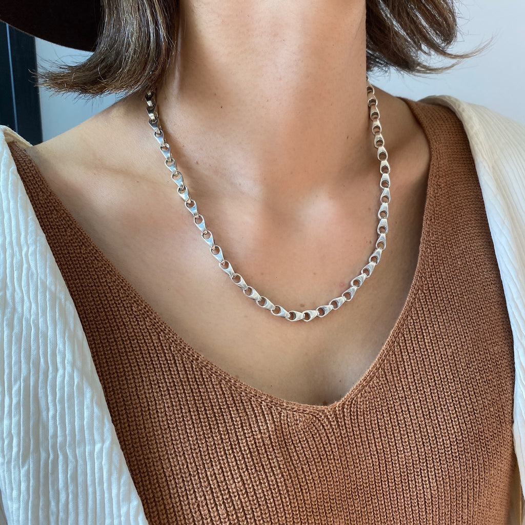 Vintage Silver Chain Necklace 1