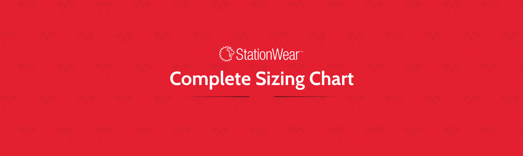 LION StationWear Sizing Chart