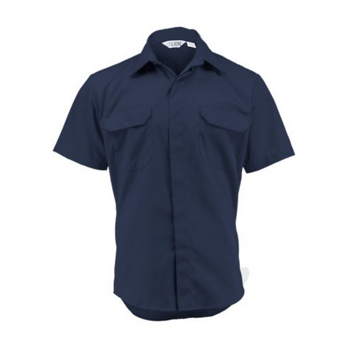 Lion Brigade Short Sleeve Shirt - 5.25 oz Poly/Cotton